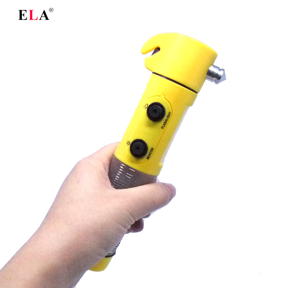 Car Safety Hammer Life Saving auto knife Escape Emergency Seat Belt Cutter Window Glass Breaker torch styling Car Rescue Tool(China (Mainland))