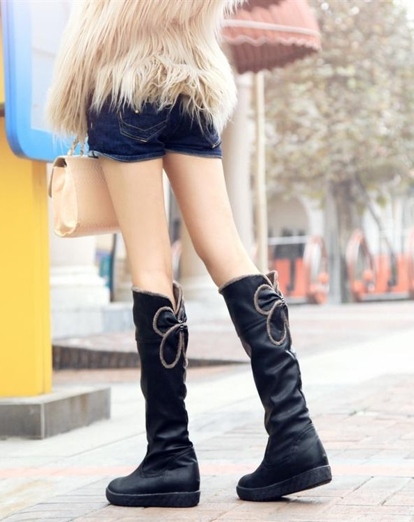ENMAYER flat ladies' boots 2013 Newest stylish warm boots for lady knight boots warm winter black brown size 34-40(China (Mainland))
