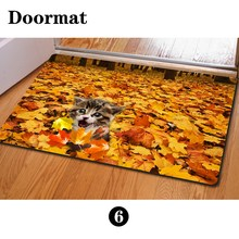 Fashion Bedroom Floor Mats Slip-resistant Entrance Doormate Pad Sunflower Cute Cat Print Horse Kitchen Carpet for Living Room(China (Mainland))