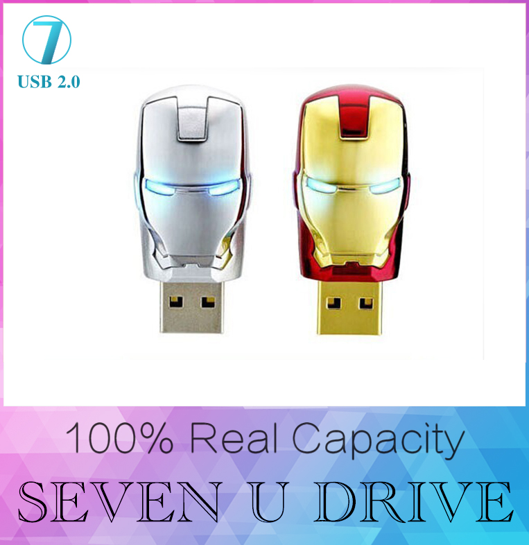 Marvel Cartoon Iron man 16GB 32GB 128GB usb flash drive 512GB pen drive pendrive U disk Thumb memory stick usb stick flash card(China (Mainland))