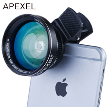 Buy APEXEL 12.5x Super Macro Lens 0.63x Super Wide Angle Lens HD iPhone 5s/6/6s Plus Samsung xiaomi redmi smartphone lens for $17.99 in AliExpress store