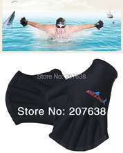 Best Selling! Swim Gloves Flippers Webbed gloves Swimming diving equipment Free Shipping(China (Mainland))