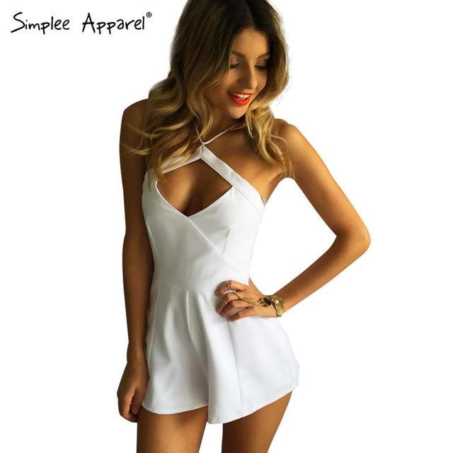 Simplee Одежда Летний стиль выдалбливают женщины комбинезон короткий комбинезон Сексуальный ...