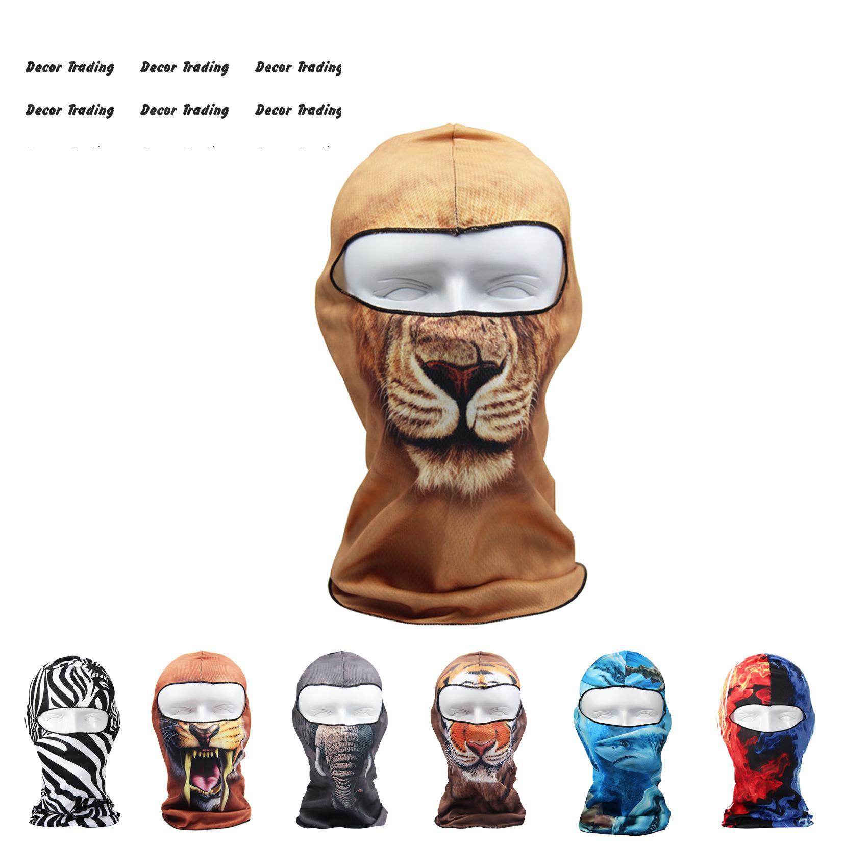 1PC Amimal Print Full Face Neck Guard Masks Motorcycle Headgear Hat Riding Hiking Outdoor Sports Cycling Masks,Balaclava Mask(China (Mainland))