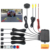 3in1 Car Video Parking Assistance Reverse Backup Radar System With Rear View Camera Connect To 4.3 inch TFT Auto Monitor
