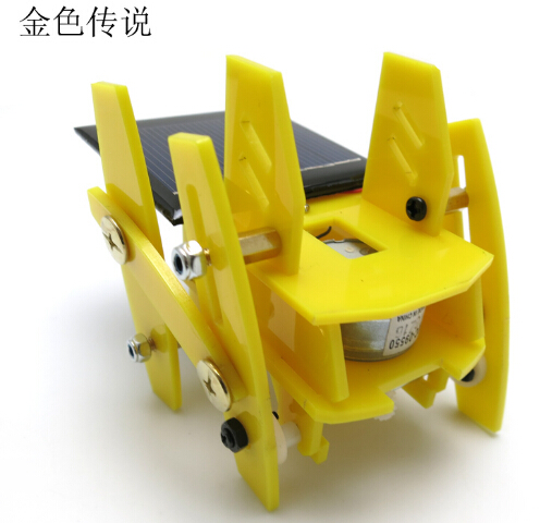F17942/3 New Version funny DIY Puzzle Toys Educational Toys Solar Quadruped Robot 7.5*7.5*7.5cm 4WD Smart Robot Chassis RC Toy(China (Mainland))
