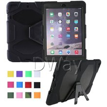 Rugged Hybrid Heavy Duty Cover Case For iPad Mini 1 2 3 Retina Case With Kickstand Shockproof PC&Silicone 10PCS/LOT(China (Mainland))