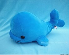small cute plush blue dolphin toy stuffed big head whale doll gift about 23cm
