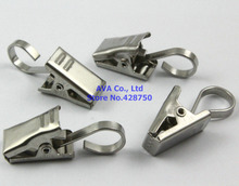 50 Pieces Stainless Steel Hook Clips for Curtain Drapery Svcbl(China (Mainland))