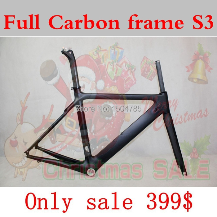 Factory sale carbon road frame S3 road frame bicycle Frame+Fork+Seatpost+Headset+ clamp cipollini BMC TIME frame(China (Mainland))