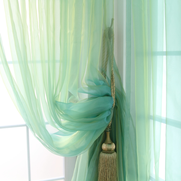 Rustic Solid Color Pink Green Curtain Window Screening Finish Product Tulle Glass Bead Curtains Luxury Living Room 300cm*270cm(China (Mainland))