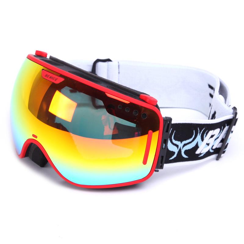 ski goggle brands  BENICE brand wide vision professional ski goggle eyewear anti-fog ...