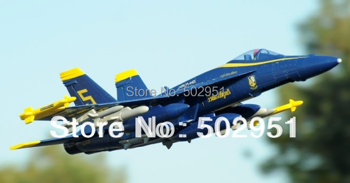 6 Channel EPO 2.4Ghz RC Airplane F-18E/F with Brushless Motor PNP and KIT(China (Mainland))