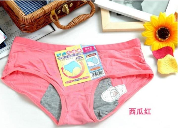 Высококачественные Женские трусы с защитой от менструаций для менструального 012