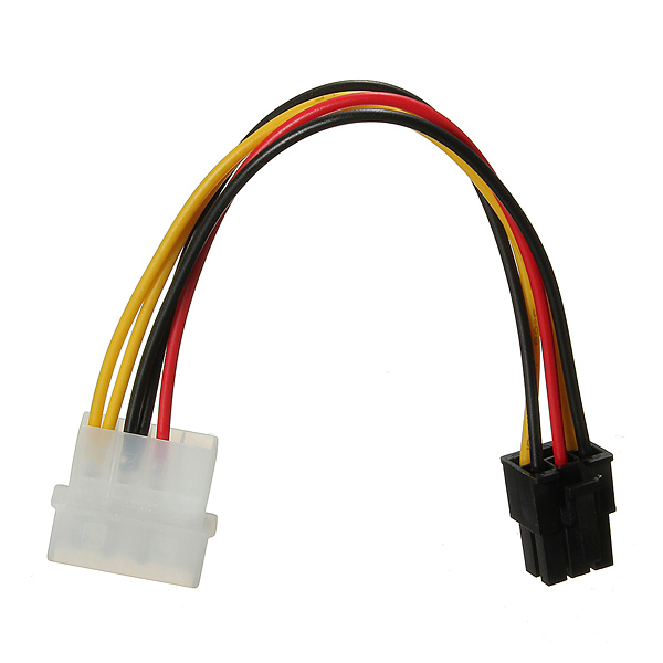 Hot Sale 4 Pin to 6 Pin PCI-Express PCIE Video Card Power Converter Adapter Cable(China (Mainland))