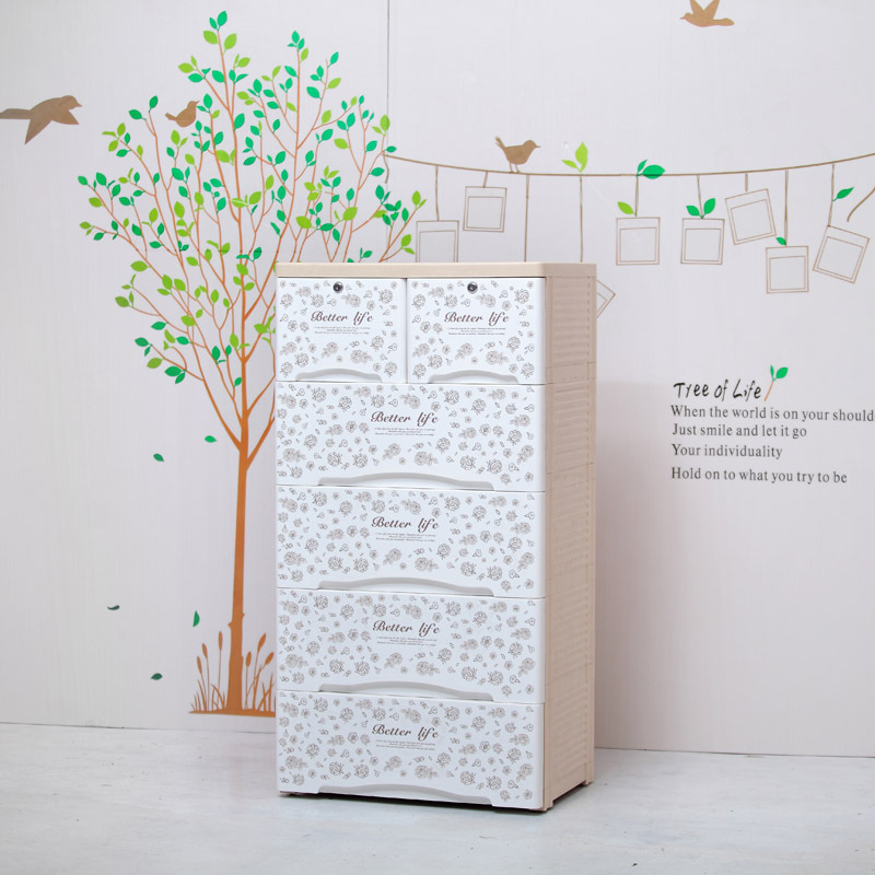 Free shipping plastic drawer storage cabinets debris increase cabinet lockers baby wardrobe cabinet finishing cabinet chest of d(China (Mainland))