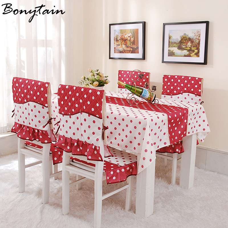 Hot Pastoral Cotton Rectangular 130*180cm Lace Edge Tablecloth Flower Printed Dustproof Table Chair Cover Home Dining Room Decor(China (Mainland))