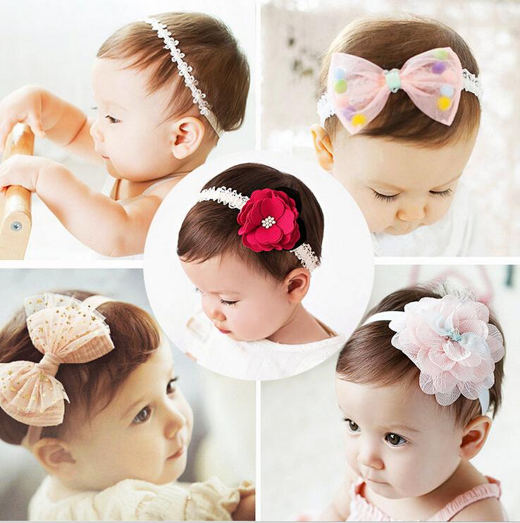 New Fashion children kids Baby girls flowers Headband Headwear Hair Band Head Piece Accessories(China (Mainland))
