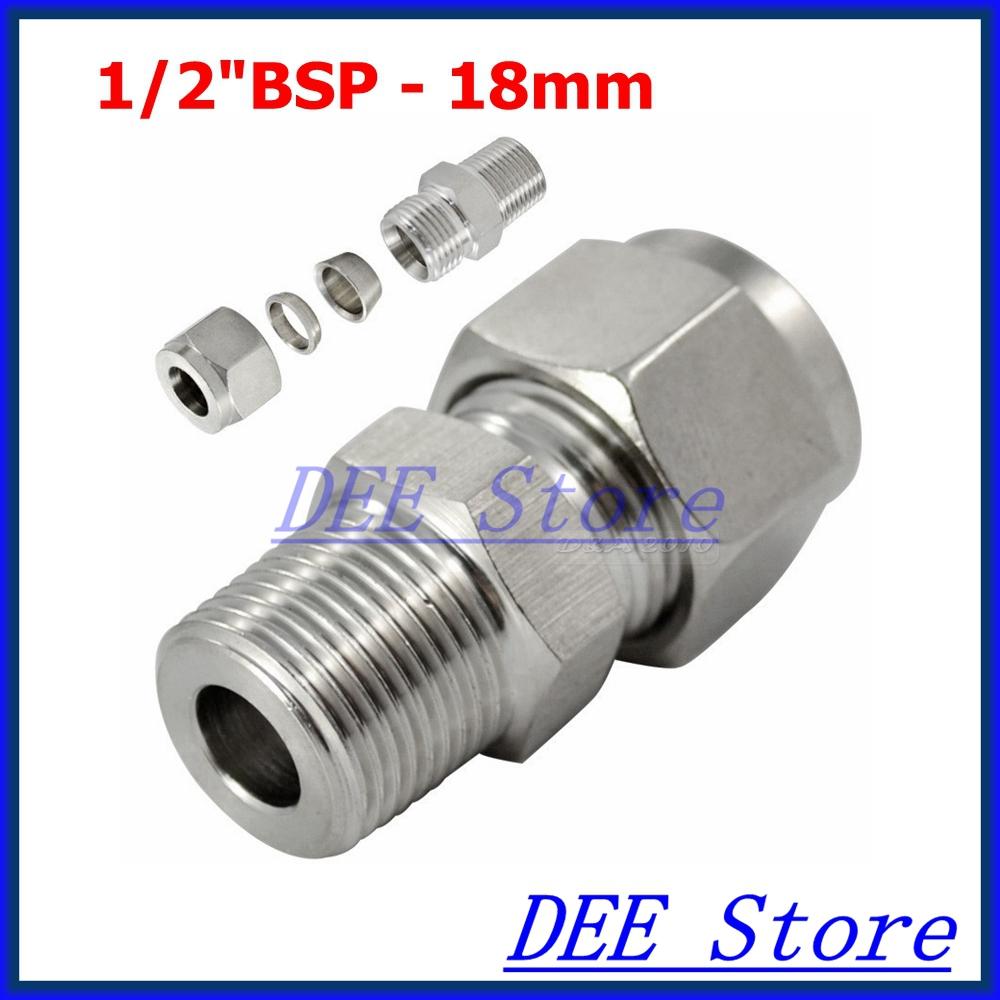 Quot bsp mm id double ferrule tube pipe fittings
