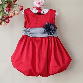 2015 New Girl Dress Baby New Style Dress Fashion Ball Dress With Belt Baby Clothing Size: 1/2/3/4/5/6#(For About 3M~4T)