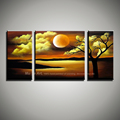3 piece canvas wall art abstract nature painting landscape hand painted oil painting home decor wall