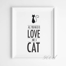 Cat Quote Art Print Painting Poster, Wall Pictures for Home Decoration, Home Decor FA379(China (Mainland))
