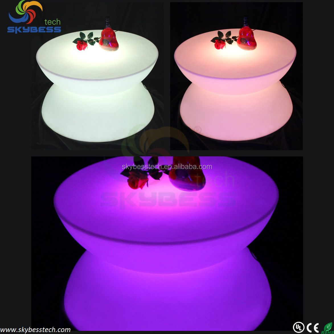 LED Table Lighting, Illuminated Bar Tables,RGB LED Bar Table SK-LF16 (D80*H44cm) free shipping 1pc<br><br>Aliexpress