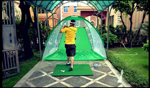 Whole set 3M*2M  Golf practice net Exercises Cages Golf Training Aids with  Mats+ball arm+10pcs golfballs Free shipping