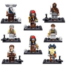8pcs/lot Moive Pirates of the Caribbean Kid Baby Toy Mini Figure Building Blocks Sets Model Toys Minifigures Brick