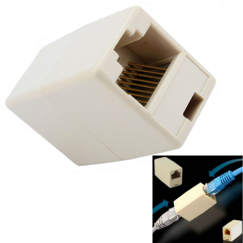 Cat 5 Connectors : Cable joiner rj adapter network ethernet lan coupler