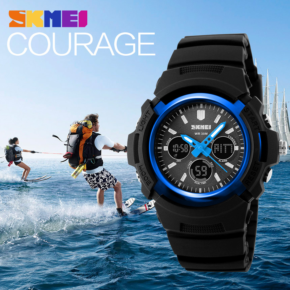Fashion Skmei Sports Brand Watch Men's Digital Shock Resistant Quartz Alarm Wristwatches Outdoor Military LED Casual Watches(China (Mainland))