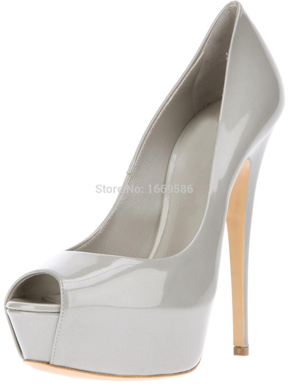 Shoesofdream  Fashion Summer High Custom Basic Peep Pointed Toe Big Size Slip On Shoes Design Brand Women Heels 2015<br><br>Aliexpress