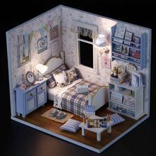 1PCS Happy Series DIY Wooden Doll House Room Box Handmade 3D Miniature Dollhouse Wood Educational Toys Girl Gifts (China (Mainland))