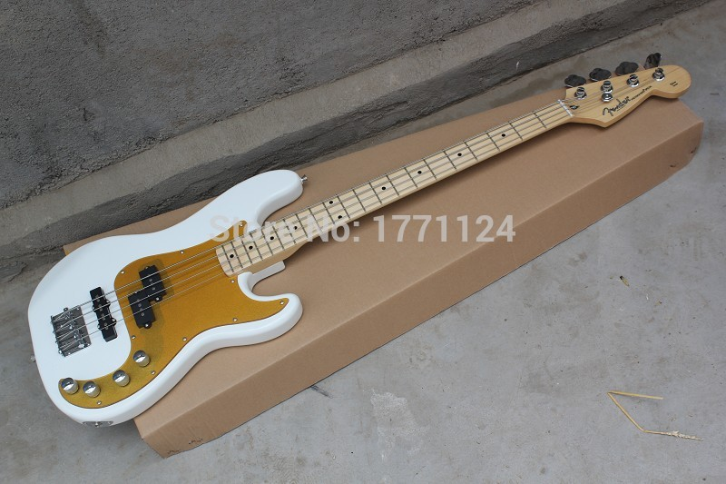 2021 Free shipping 2015 Top Quality Precision Bass Special - Blizzard Pearl electric bass guitar(China (Mainland))