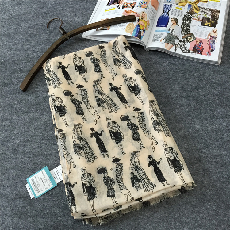 2015 South Korean exports original single woman in Paris scarf shawl European and American big spring and summer scarves S4130(China (Mainland))