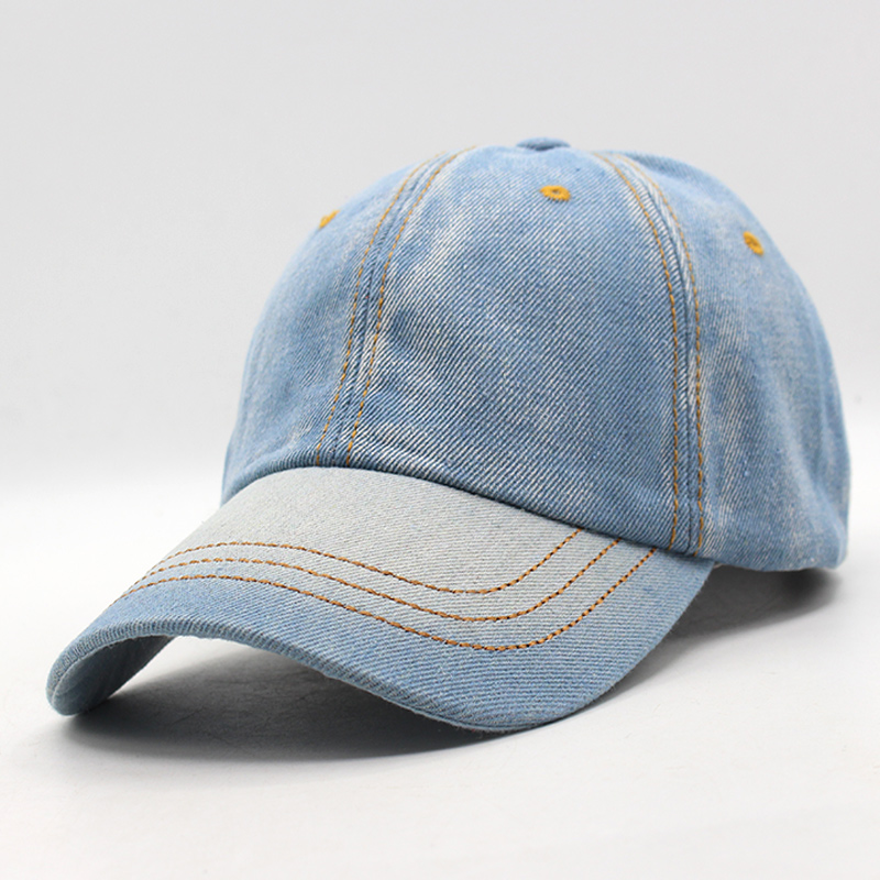 Baseball Cap Men Women Snapback Caps Brand Golf Hats For Women Visor Bone Jeans Denim Blank ...