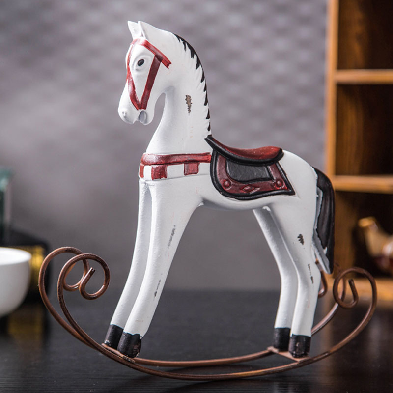 Retro horse craft ornaments garden decorative gifts jewelry Home Furnishing Nordic rocking horse(China (Mainland))