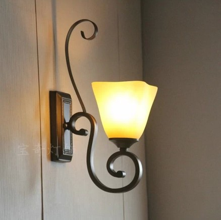 Wall Lamps Beside Bed : LED Indoor Wall Lamps Beside Bedroom Wall Lamps American Rustic Wrought Iron Wall Lamp Bedroom ...