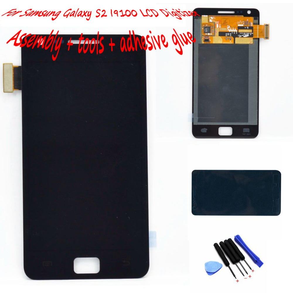 Samsung Galaxy S2 I9100 LCD touch screen display digitizer glass Assembly + Tools Adehsive Black white - Top Leading HK Co., Ltd store