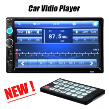 Hot 2 Din Car Video Player 7'' HD Touch Screen Bluetooth Stereo Radio Car MP3 MP4 MP5 Audio USB Auto Electronics In Dash(China (Mainland))