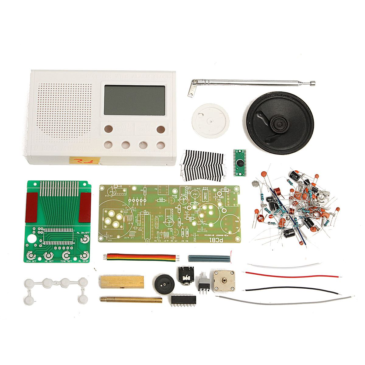 Best DIY FM Radio Electronic Hobbies Learning Suite Kit White Frequency Range 72-108.6MHz(China (Mainland))