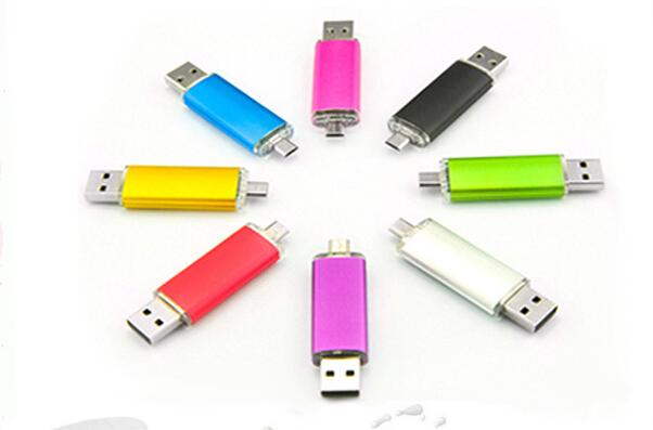 Hot Metal OTG USB 2.0 USB Flash drive Mobile Phone Flash Disk 4GB 8GB 16GB 32GB Memory Storage USB Stick Gift Pen Drive U Disk(China (Mainland))