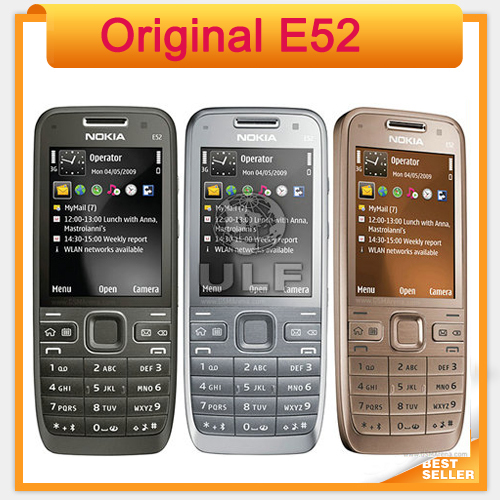 Original E52 Nokia Mobile Phone Bluetooth WIFI GPS 3G Cell Phone Support Arabic / Russian Keyboard(China (Mainland))
