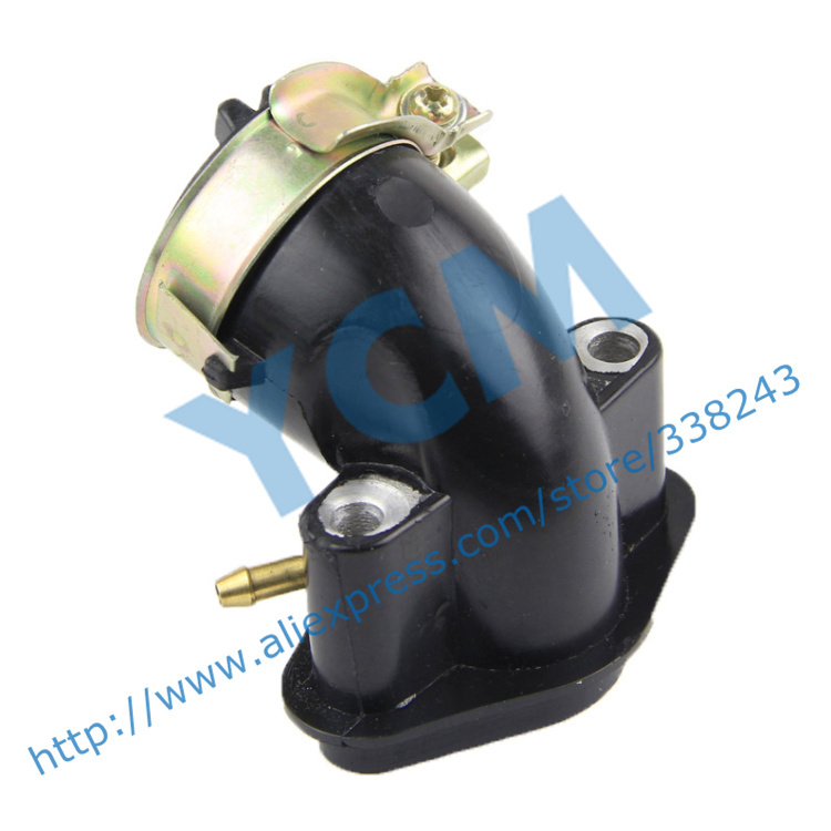 Intake Pipe EUI Carburetor Inlet Pipe GY6 50 80cc Scooter Engine Spare Parts 139QMB Moped Wholesale YCM(China (Mainland))