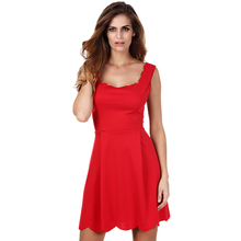 Summer Style Sexy Slim Skater Dress Sleeveless Cotton Formal For Women Dresses Party Evening Elegant Kawaii