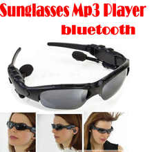 by dhl or ems 50 pieces Mp3 Player+FM Radio+Bluetooth 4GB Headset Sunglasses Free Shipping(China (Mainland))