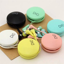 2016 New Arrival Macaroon In-Ear Earphones 3.5mm Kids Gift Earphones With Case Colorful Candy Color Headset For Mobile Phone