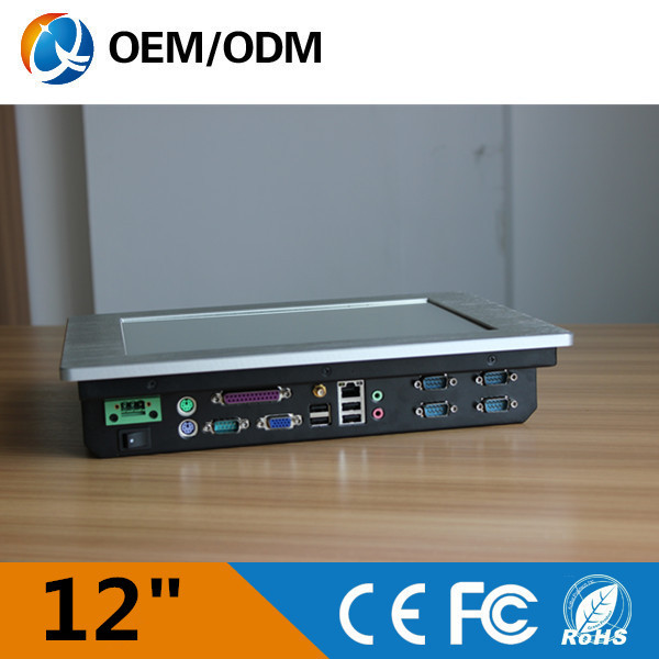 QYT Intel D525 CPU 2015 technology 12 inch best saler embedded mini pc tablet pc for industrial use(China (Mainland))