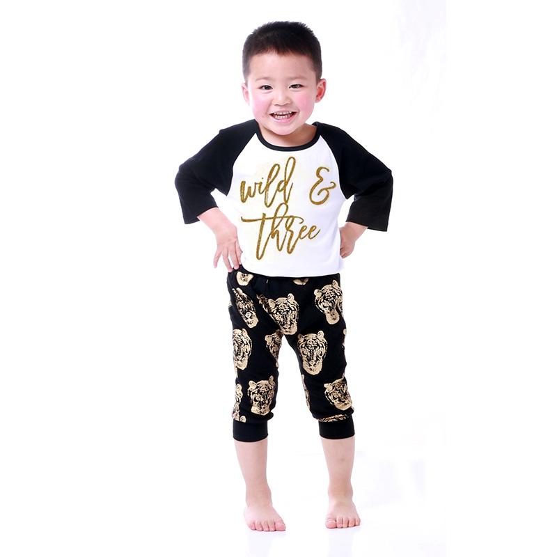 Aliexpress Buy Gold Print Kids Clothes Boys Clothes