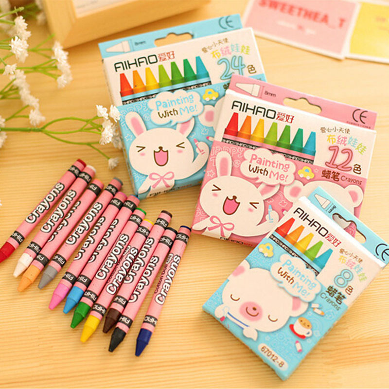 24 pcs/lot Non-toxic waterclor caryon kids oil pastels material escolar papelaria gift school supplies pen stationery<br><br>Aliexpress